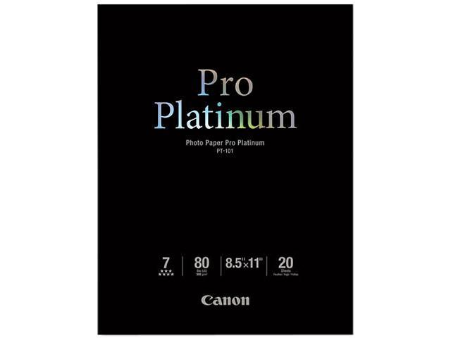 Canon PT-101 Photo Paper Pro Platinum, High Gloss(2768B022), 8-1/2 x 11, 80 lb., White, 20 Sheets/Pack