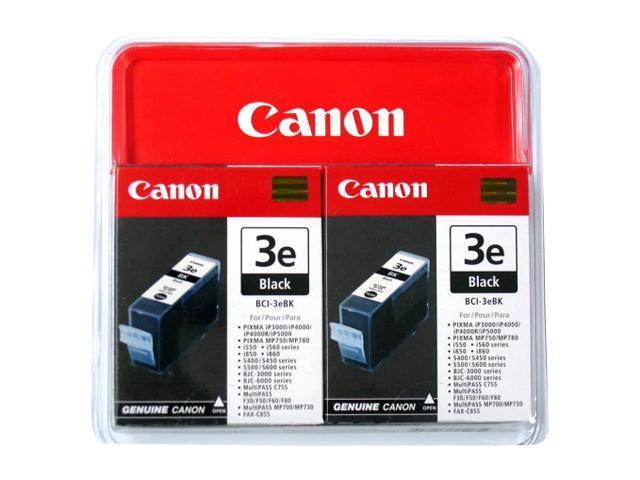Canon BCI-3E(4479A274) Inkjet Cartridge Twin-pack W/PR-101 5-sheet Pack (4479A274) Black