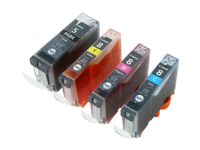 Canon PGI-5/ CLI-8 4-pack + Paper Value Pack; Black, Cyan, Magenta, Yellow (0628B027)
