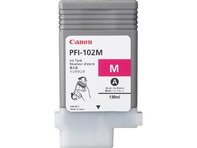 Canon PFI-102M for imagePROGRAF iPF500, iPF600 and iPF700 Printers&#59;  Magenta (0897B001)