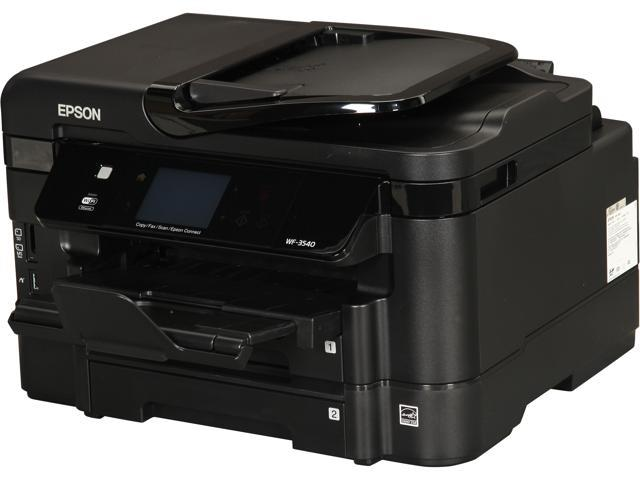 EPSON WorkForce WF-3540 15 ISO ppm Black Print Speed 5760 x 1440 dpi Color Print Quality Wireless InkJet MFC / All-In-One Color Printer