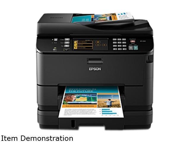 EPSON WorkForce Pro WP-4540 (C11CB32201-N) Up to 16 ppm Black Print Speed 4800 x 1200 dpi Color Print Quality Wireless MicroPiezo Inkjet MFC / ...
