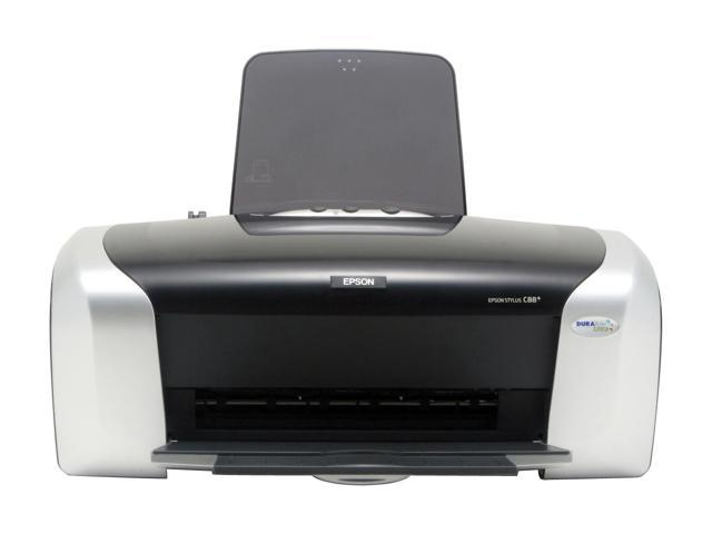 EPSON Stylus C88+ C11C617121 Up to 23 ppm Black Print Speed up to 5760 x 1440 optimized dpi Color Print Quality InkJet Personal Color Printer