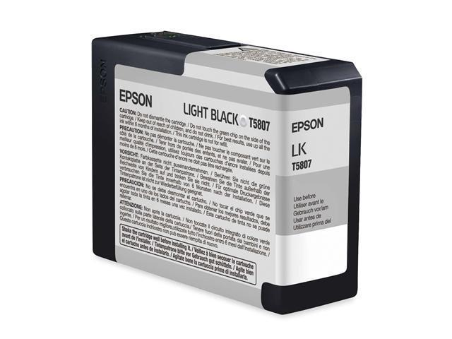 EPSON T580700 80 ml UltraChrome K3 Ink Cartridge Light Black
