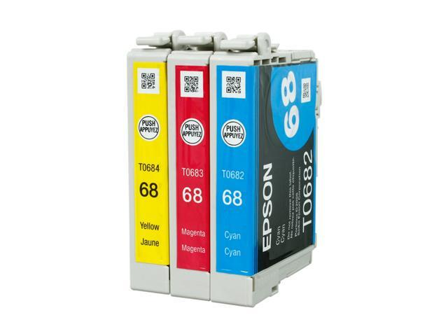 EPSON 68 (T068520) DURABrite Ultra High-capacity multi-pack Ink Cartridge 3 Colors