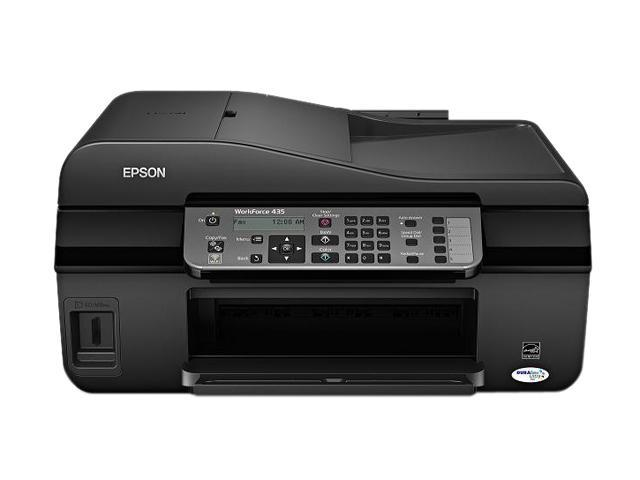 EPSON WorkForce 435 C11CB45201 6.3 ISO ppm Black Print Speed 5760 x 1440 dpi Color Print Quality Wireless MicroPiezo Inkjet MFC / All-In-One Color Printer