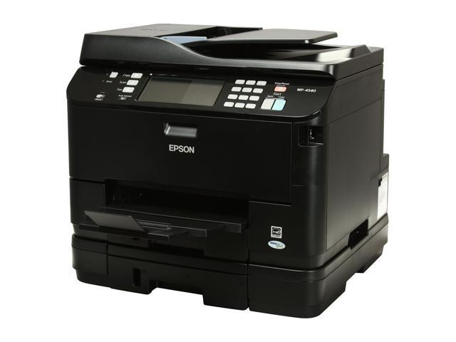 EPSON WorkForce Pro WP-4540 Up to 16 ppm Black Print Speed 4800 x 1200 dpi Color Print Quality Wireless MicroPiezo Inkjet MFC / All-In-One Color Printer