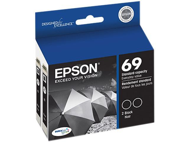 EPSON 69 (T069120-D2) Dual Pack Ink Cartridges Black
