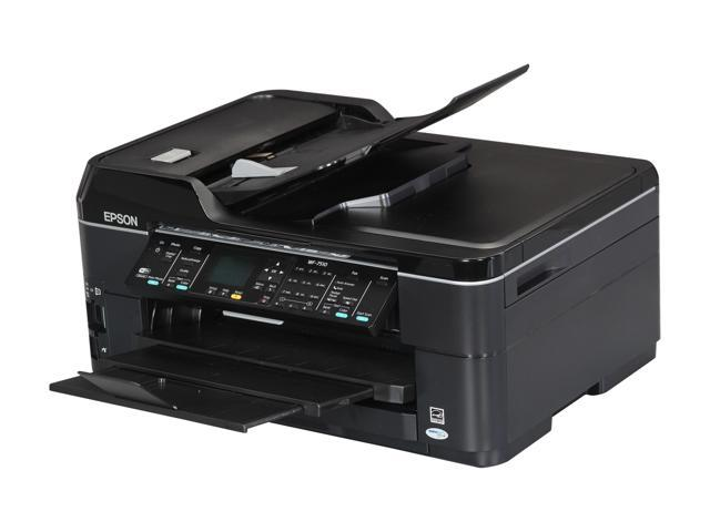 EPSON WorkForce WF-7510 15 ISO ppm Black Print Speed 5760 x 1440 dpi Color Print Quality Wireless InkJet MFC / All-In-One Color Printer