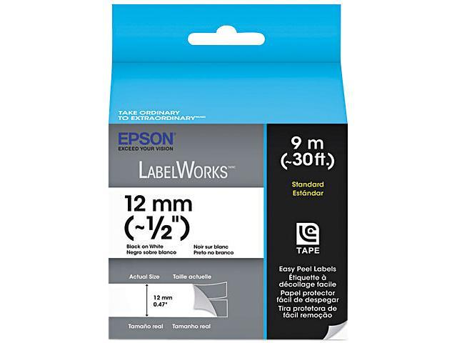 EPSON LC-4WBN9 LabelWorks Standard LC Tape Cartridge 1/2
