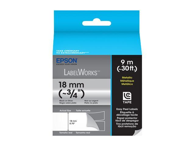 EPSON LabelWorks LC-5SBM9 Print/Silver Tape