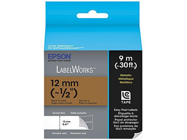 EPSON LC-4KBM9 LabelWorks Metallic LC Tape Cartridge ~1/2