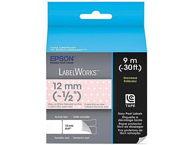 EPSON LC-4EAY9 LabelWorks Standard LC Tape Cartridge ~1/2