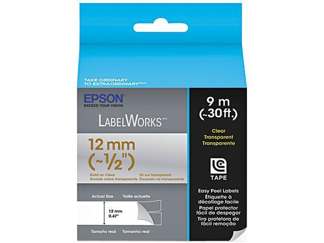 EPSON LC-4TKN9 LabelWorks Clear LC Tape Cartridge ~1/2