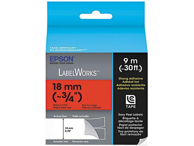 EPSON LabelWorks LC-5RBW9 Print/Red Tape