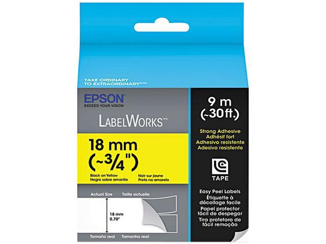 EPSON LC-5YBW9 LabelWorks Strong Adhesive LC Tape Cartridge ~3/4