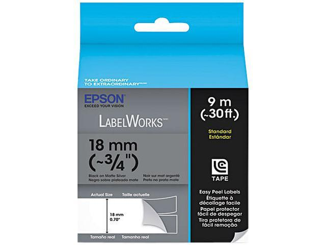 EPSON LabelWorks LC-5SBE9 Print/Silver Tape