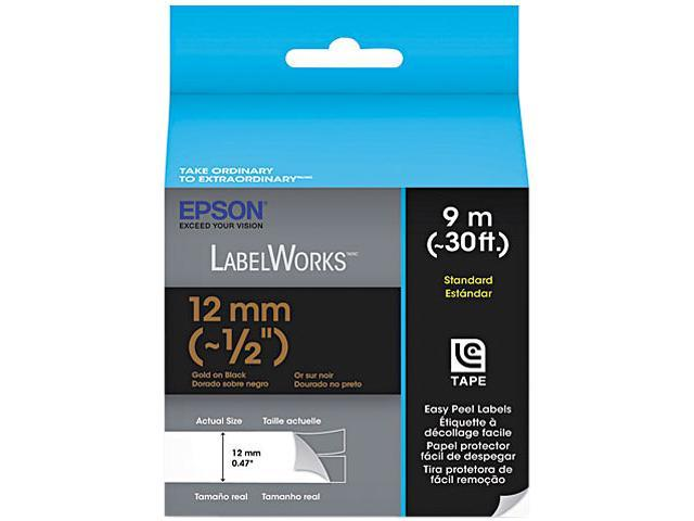 EPSON LC-4BKP9 LabelWorks Standard LC Tape Cartridge ~1/2