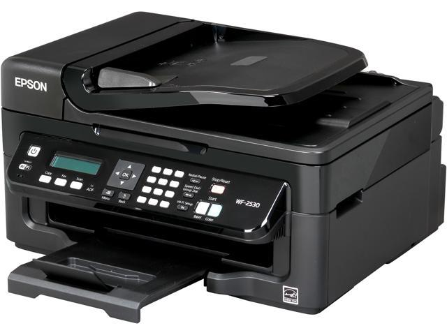 EPSON WorkForce WF-2530 9.0 ISO ppm Black Print Speed 5760 x 1440 optimized dpi Color Print Quality Wireless InkJet MFC / All-In-One Color Printer