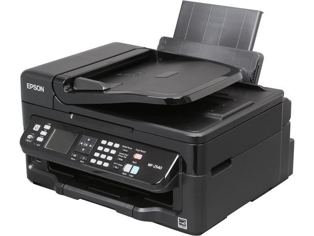 EPSON WorkForce WF-2540 9.0 ISO ppm Black Print Speed 5760 x 1440 optimized dpi Color Print Quality Wireless InkJet MFC / All-In-One Color Printer