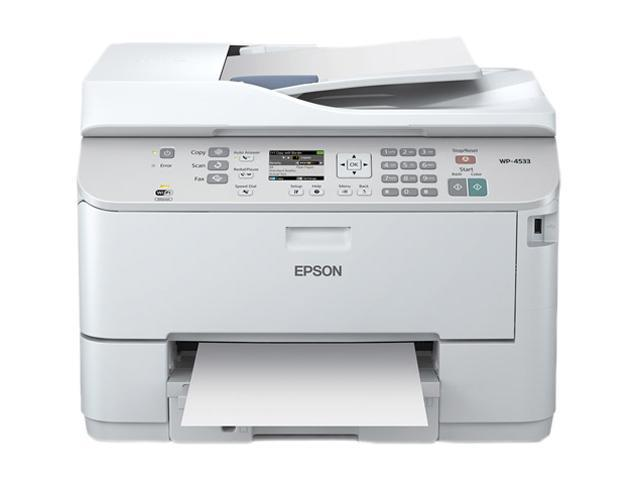 EPSON WP-4533 (C11CB33231) Up to 16 ppm 4800 x 12 dpi USB/Ethernet/Wireless Dulpex Color Multifunction Inkjet Printer