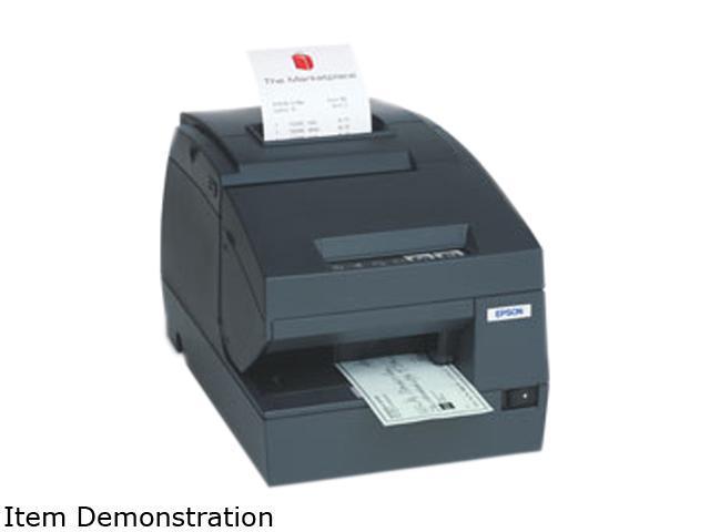 EPSON TM-H6000III C31C625A7971 Direct Thermal Receipt Printer with Dot Matrix Endorsement – USB Powered, Custom Firmware (Gray)