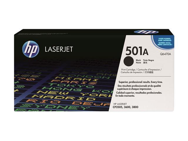 HP 502A Black LaserJet Toner Cartridge (Q6470A)