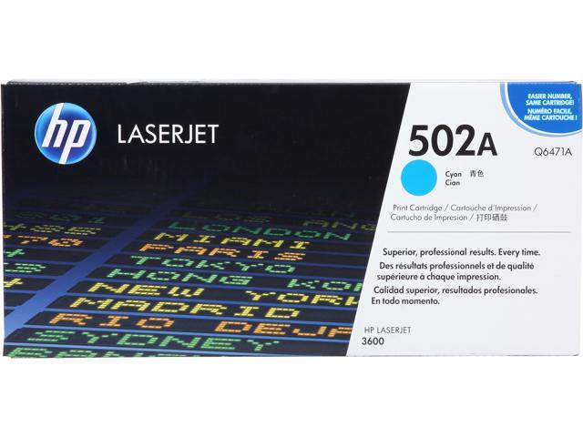 HP 502A Cyan LaserJet Toner Cartridge (Q6471A)