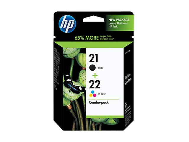 HP 21/22 Black/Color Inkjet Print Cartridge Combo Pack (C9509FN#140)