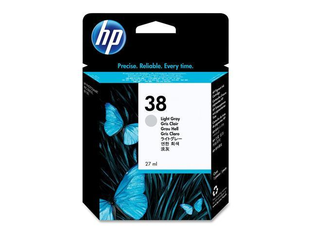 HP 38 C9414A Pigment Ink Cartridges Light Gray