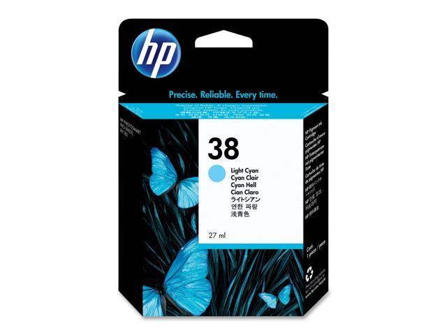 HP 38 Light Cyan Pigment Ink Cartridge (C9418A)