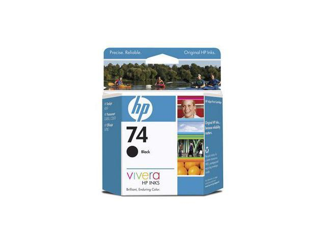 HP 74 (CB335WN) Ink Cartridge 200 page yield; Black