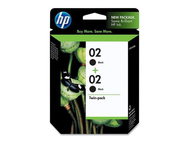 HP 02 Black Ink Cartridges 2-pack (C9500FN#140)