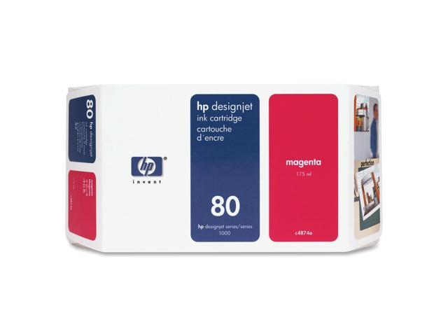HP 80 Ink Cartridge For HP Designjet 1000 Printer series, Magenta (C4847A)