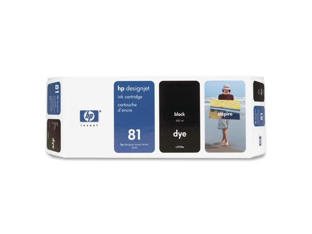 HP 81 Ink Cartridge Black (C4930A) For HP Designjet 5000, 5000ps, 5500 and 5500ps Printers