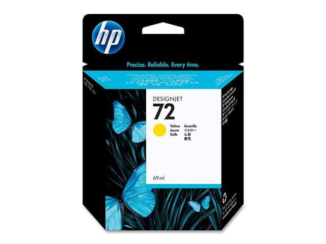 HP 72 69ml Ink Cartridge (C9400A) for DesignJet T1100, T1120, T1200, T1300, T610, T620, T770, T790 - Yellow