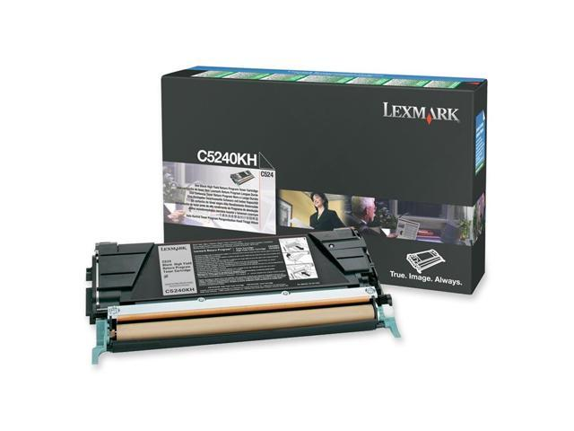 LEXMARK C5240KH High Yield Return Program Toner Cartridge Black