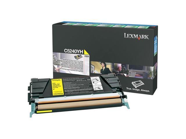 Lexmark C5240YH C524x Yellow High Yield Cartridge 5,000 page yield (Return Program)