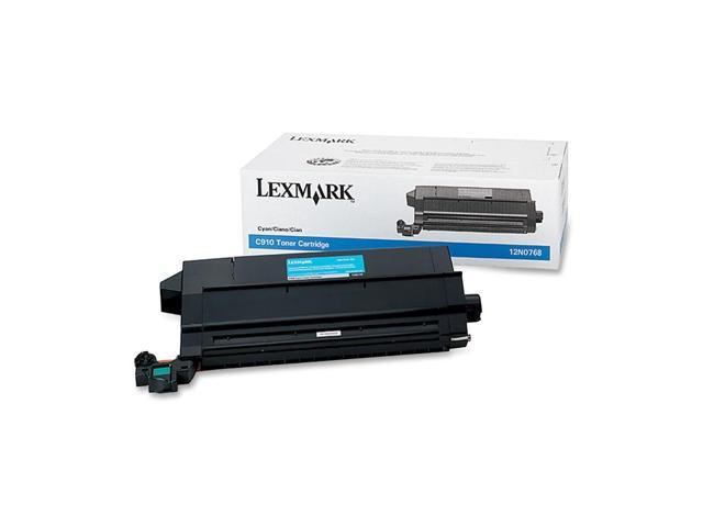 LEXMARK 12N0768 TONER CART FOR C910 C912 Cyan