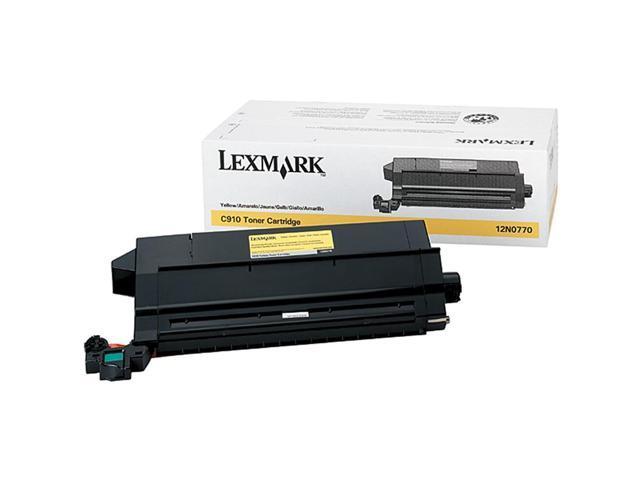 LEXMARK 12N0770 TONER CART FOR C910 C912 Yellow
