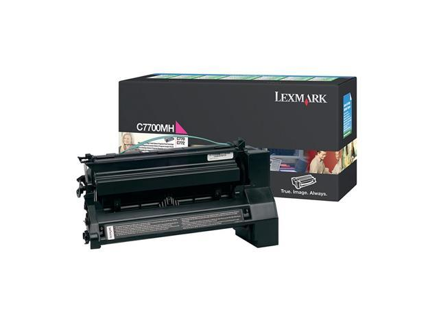 LEXMARK C7700MH High Yield Return Program Print Cartridge Magenta