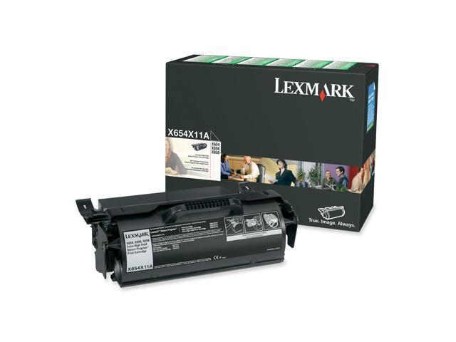 LEXMARK X654X11A X654, X656, X658 Extra High Yield Return Program Print Cartridge Black