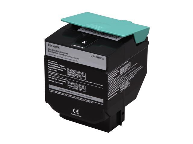 LEXMARK (C540H1KG) High Yield Return Program Toner Cartridge Black for  C540, C543, C544, X543, X544