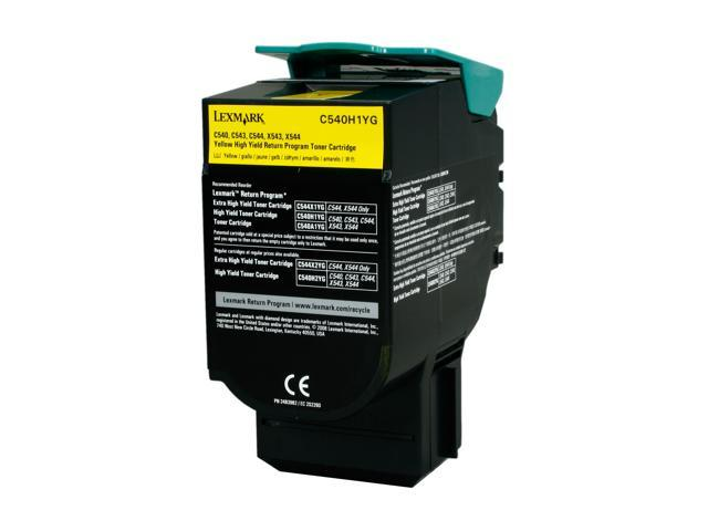 Lexmark C540H1YG C54x/X543/X544 High Yield Toner Cartridge; Yellow (Return Program)