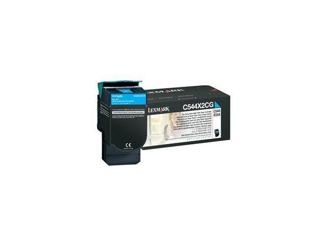 LEXMARK C544X2CG C544, X544 C544, X544 Extra High Yield Toner Cartridge Cyan