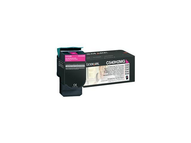 LEXMARK C540H2MG C540, C543, C544, X543, X544 High Yield Toner Cartridge Magenta