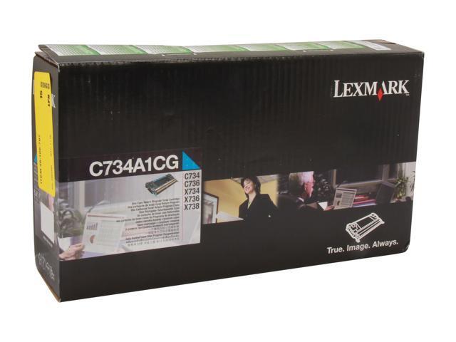 LEXMARK C734A1CG Return Program Toner Cartridge Cyan