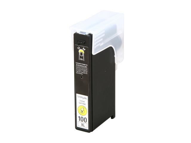 Lexmark 14N1071 100XL Yellow High Yield Return Program Ink Cartridge for S305, S405, S505, S605, S815, Pro205, Pro705
