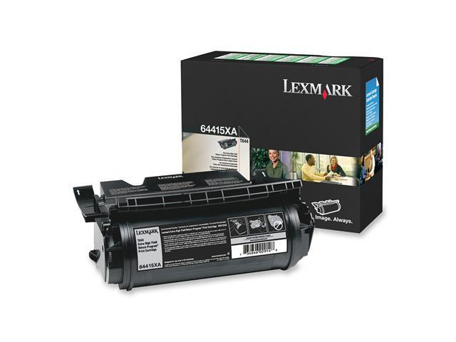 Lexmark 64415XA T644 Extra High Yield  Print Cartridge; black 32,000 page yield  (Return Program)