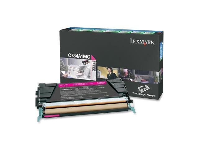 LEXMARK C734A1MG Return Program Toner Cartridge Magenta